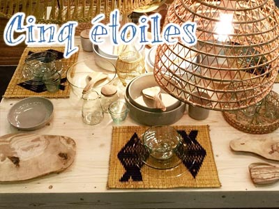 Cinq Etoiles ou le spécialiste des objets décoratifs artisanaux