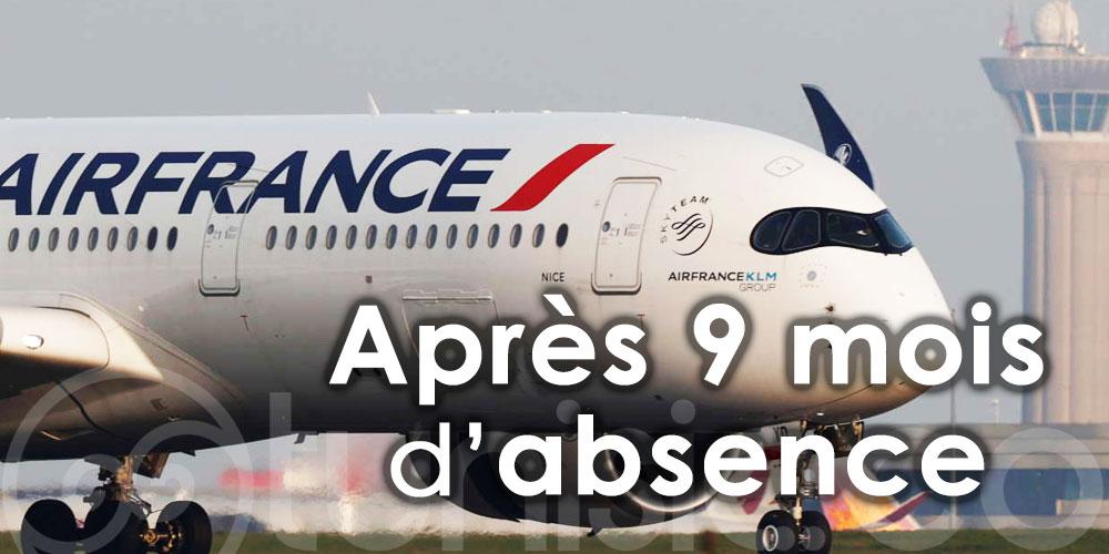 Air France reprend ses vols vers Djerba après neuf mois d'absence