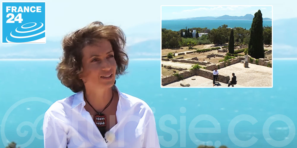 Interview sur France 24 de Audrey Azoulay directrice de l'Unesco à Carthage
