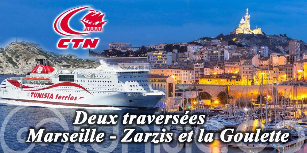 CTN: Deux traversées de Marseille à Zarzis et la Goulette