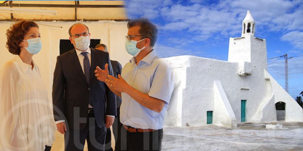 En photos : Audrey Azoulay visite la Mosquée Fadhloun Djerba Midoun
