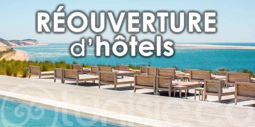 Liste des réouvertures d'hôtels en Tunisie
