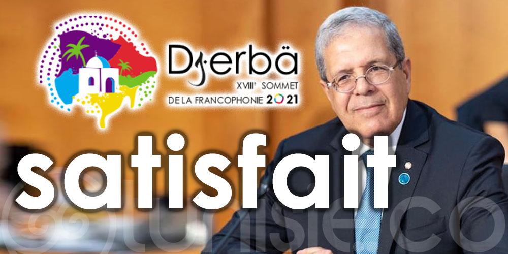 Jerandi satisfait de l'état d'avancement des travaux préparatoires du XVIIIe Sommet de la Francophonie