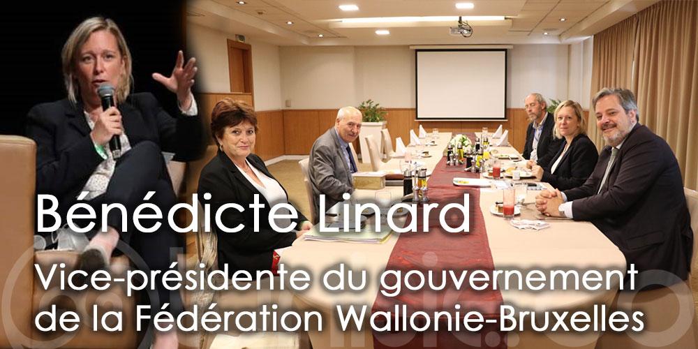Visite à Tunis de Bénédicte Linard, vice-présidente du gouvernement de la Fédération Wallonie-Bruxelles