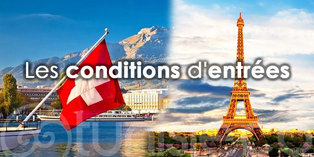 Tunisie - Suisse - France : Voici les conditions d'entrées