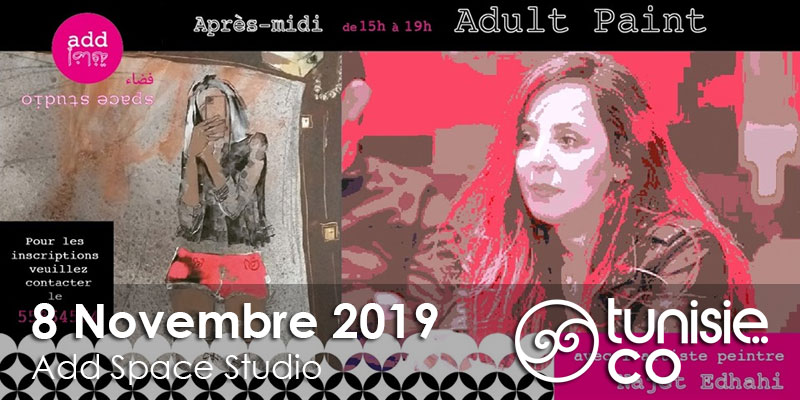 Adult Paint avec Najet Edhahbi le 8 Novembre