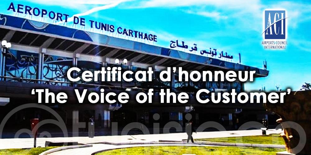 Mention d'honneur pour l'aéroport Tunis Carthage