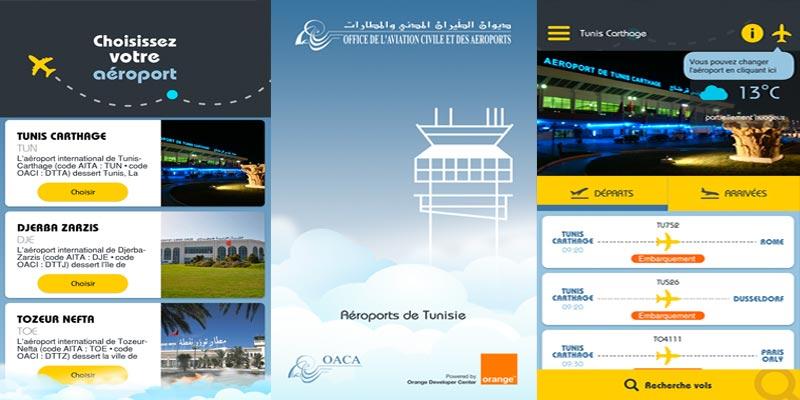 Aéroports de Tunisie la nouvelle application pour les horaires des vols