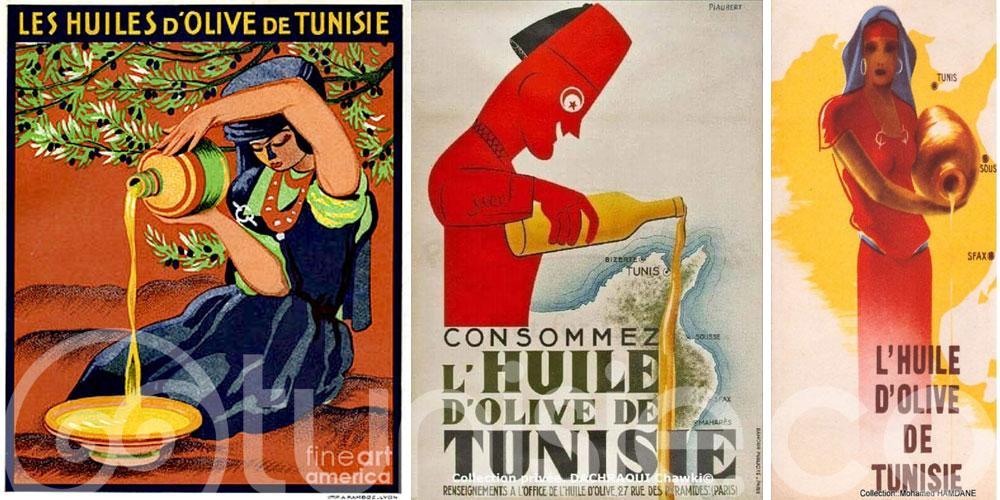 Découvrez les anciennes affiches sur l'huile d'olive de Tunisie