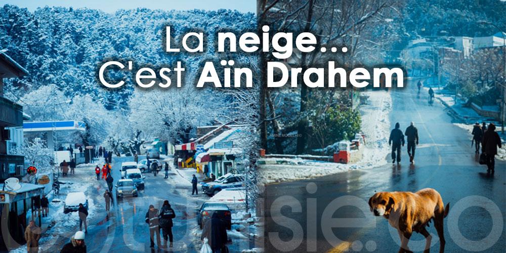La neige... C'est Aïn Drahem