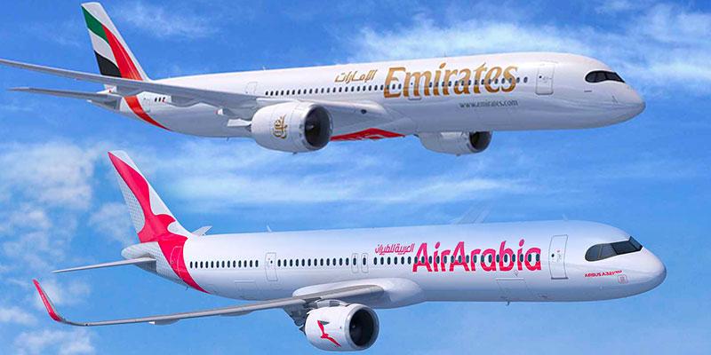AirArabia et Emirates annoncent des commandes majeures pour Airbus