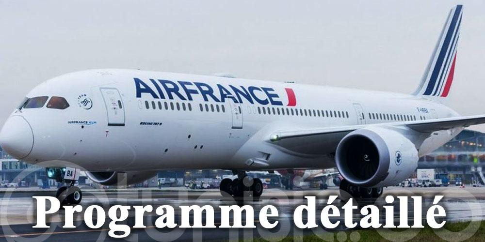 Air France renforce ses vols: programme détaillé