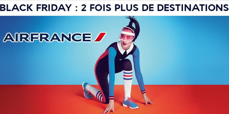 Pendant 48h, profitez de l'offre Black Friday de Air France