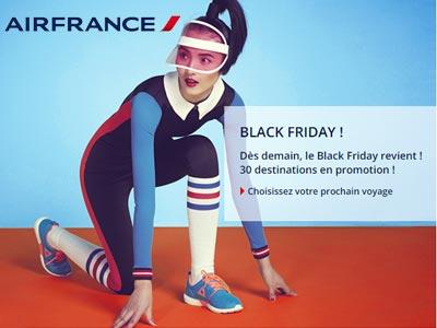 Pendant 48h, profitez de l'offre Black Friday de Air France