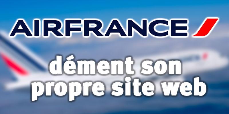 En vidéo : Air France Tunisie dément ce qu'elle affiche sur son propre site web