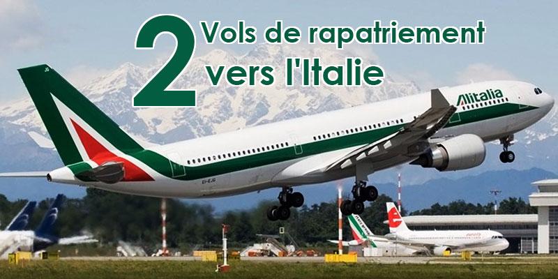 Deux Vols de rapatriement vers l'Italie