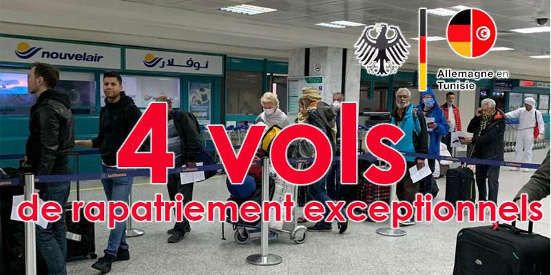 4 vols de rapatriement exceptionnels ont été effectués à destination de l'Allemagne