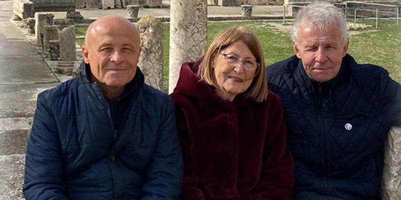 Olivier Poivre d'Arvor commence la nouvelle décennie en famille à Dougga