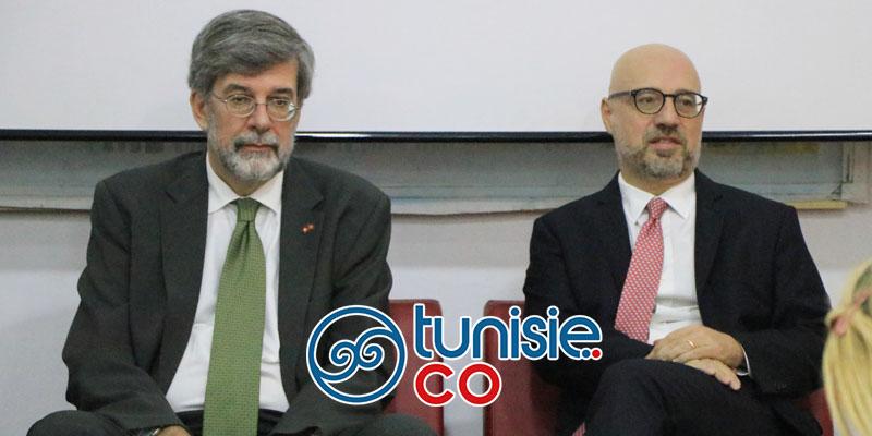 Les ambassadeurs Lorenzo Fanara et Etienne Thévoz présentent la semaine de la langue italienne