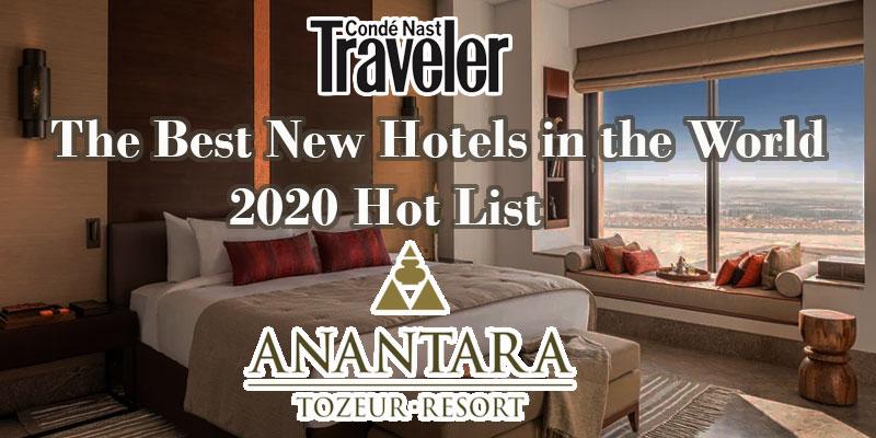 Condé Nast Traveler: Anantara Tozeur Resort dans le top 20 des meilleurs hôtels au monde