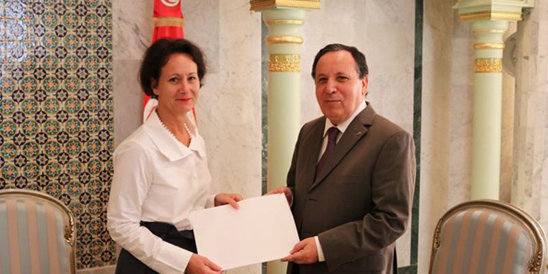 Lettres de créance d'Anna Block Mazoyer ambassadrice de Suède en Tunisie