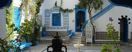 Dar al annabi sidi bou said for Maison traditionnelle tunisienne