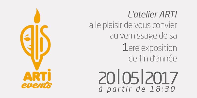 Vernissage de la 1ere exposition de fin d'année le samedi 20 mai à l'atelier ARTI