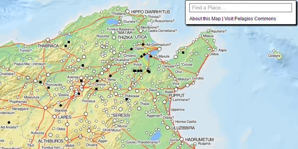 Découvrez la carte à la Google Maps de la Tunisie à l´époque romaine