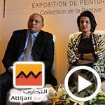 En vidéo : Exposition de peinture Passerelles au siège d´Attijari bank