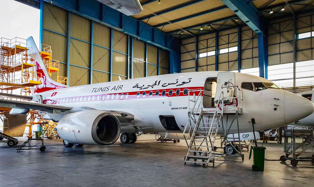 En photos : Un avion de Tunisair repeint avec l'ancien design de la compagnie