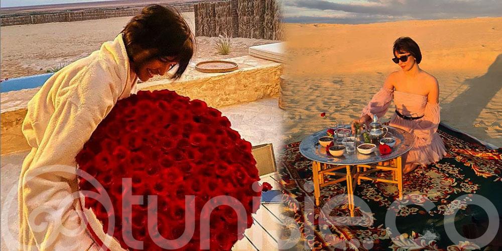 Azza Slimene a choisi le désert tunisien pour fêter son anniversaire