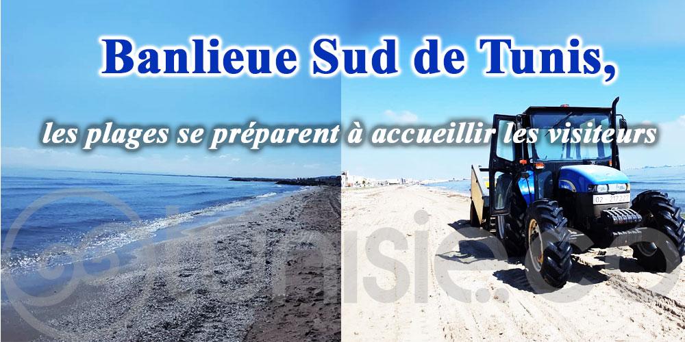 A la Banlieue Sud de Tunis, les plages se préparent à accueillir les visiteurs