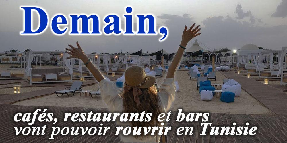 Demain, cafés, restaurants et bars vont pouvoir rouvrir en Tunisie