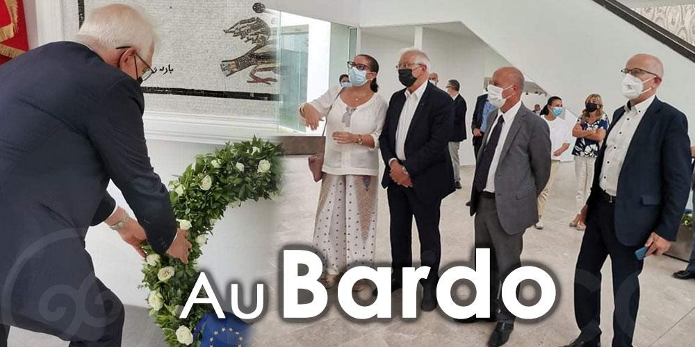 En photos : Josep Borrell visite le Musée du Bardo