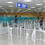 En photos : Installation de barrières sous douane départ/arrivée à l'aéroport de Tunis Carthage