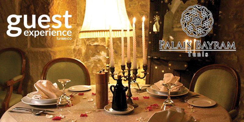 Diner pour deux au coeur de la Médina au Restaurant El Makhzen du Palais Bayrem
