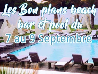 La météo des Beach bars et Pools de Tunis pour le weekend du 8 au 10 septembre