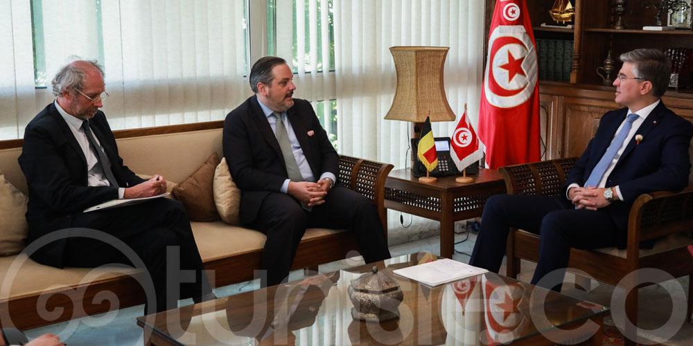 Toumi reçoit l'ambassadeur de Belgique à Tunis