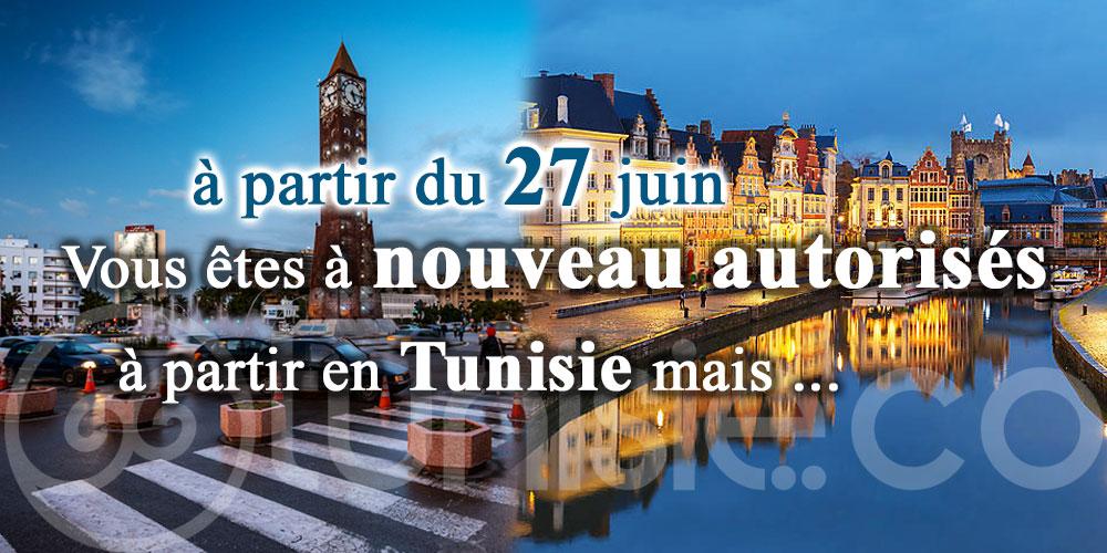 Ambassade de Belgique à Tunis: Vous êtes à nouveau autorisés à partir en Tunisie mais ...