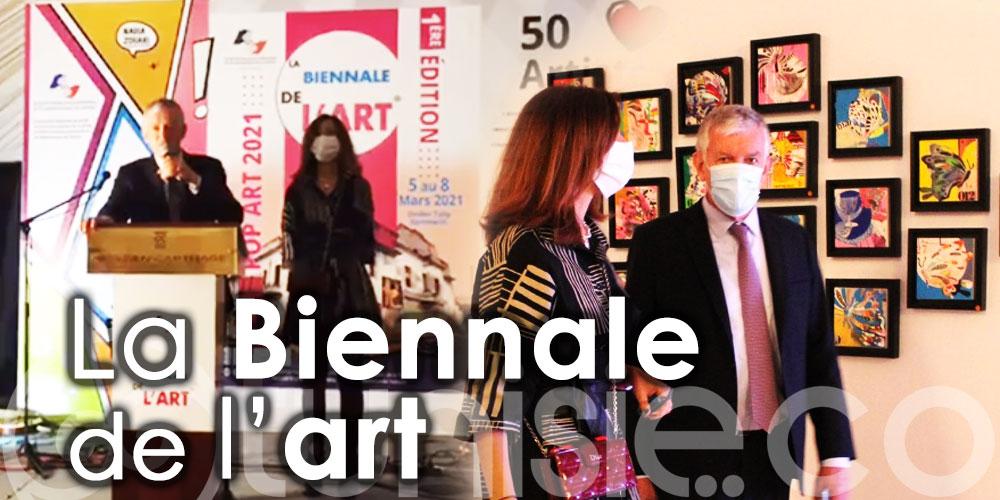 En vidéo: Découvrez les 120 œuvres des 50 artistes peintres à la Biennale de l'art