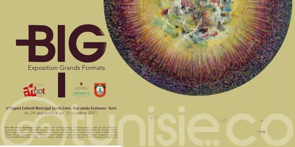 Vernissage d'une exposition grands formats au centre culturel Municipal Sainte Croix