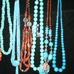 Bijoux en corail et en argent