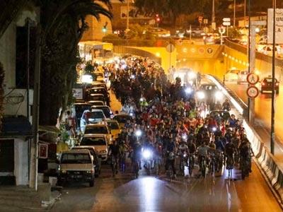 Tunis by bike : La vélo parade à la Marsa le 25 août