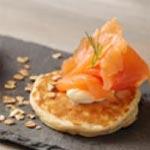 Recette : Blinis aux flocons d'avoine et au saumon