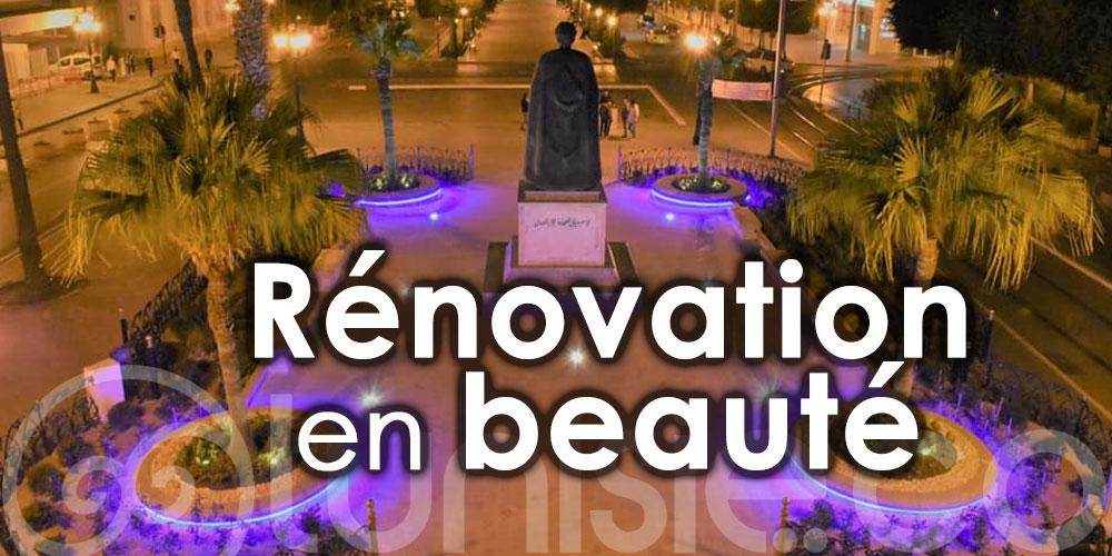 Rénovation en beauté de ''La place de l'Indépendance''