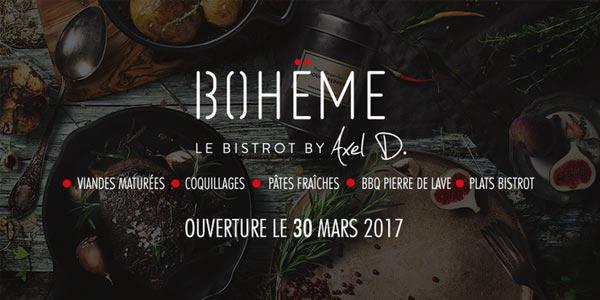 Le Bohëme innove et devient 'BOH�?ME - Le bistrot by Axel D.'