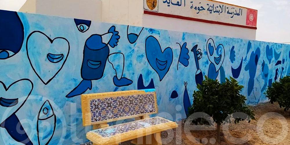 L'artiste Abbes Boukhobza redonne vie aux écoles de Djerba