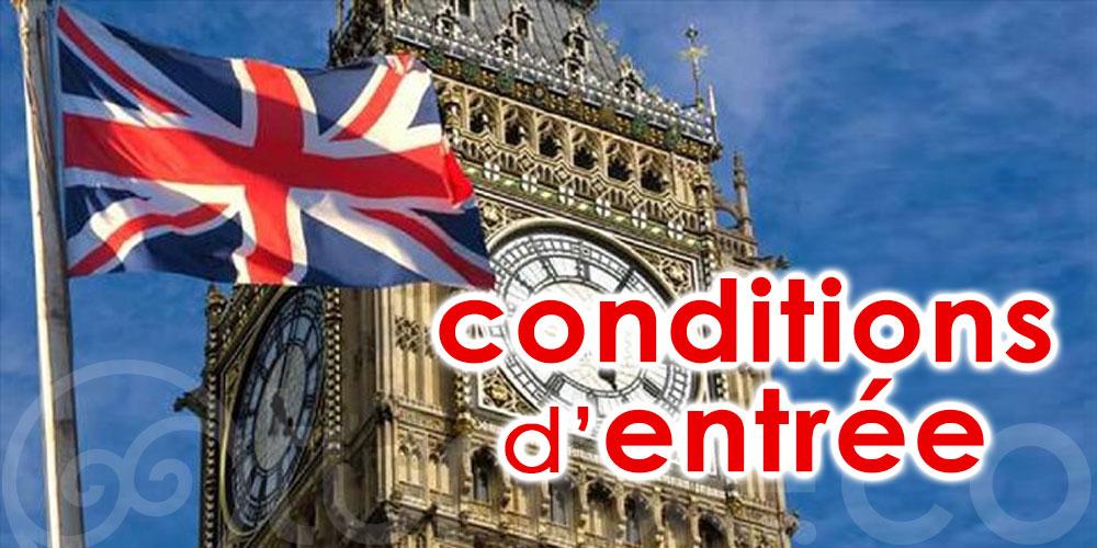 Nouvelles conditions d'entrée au Royaume-Uni