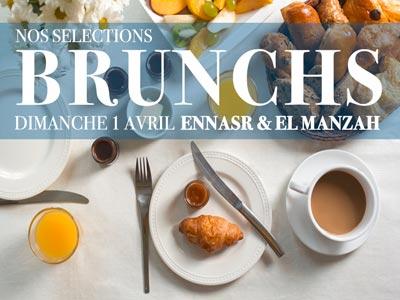 Sélection des Brunchs à Ennasr et El Menzah pour ce dimanche 1 Avril