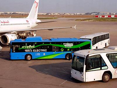 Un bus électrique BYD en test à l'aéroport Tunis-Carthage